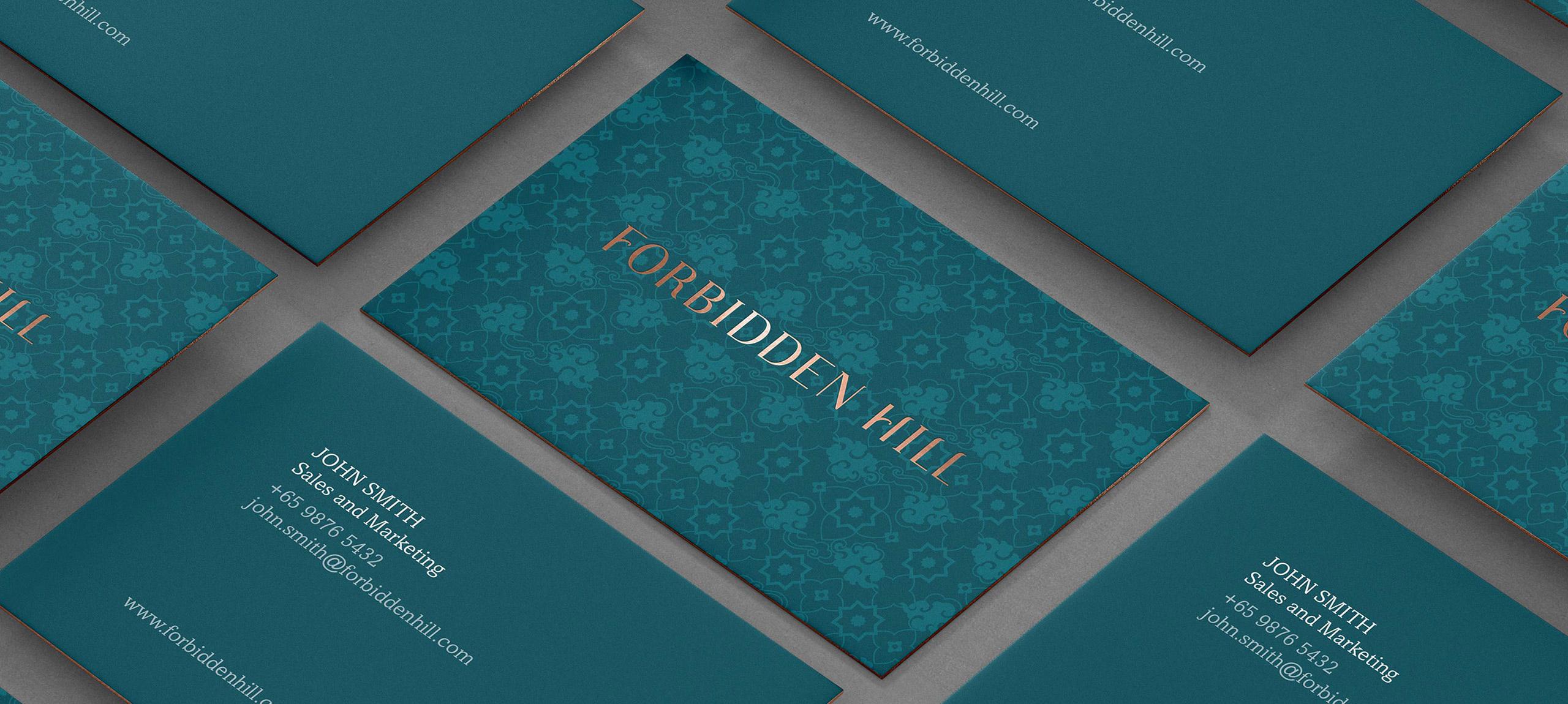 Forbidden Hill Business Card Banner