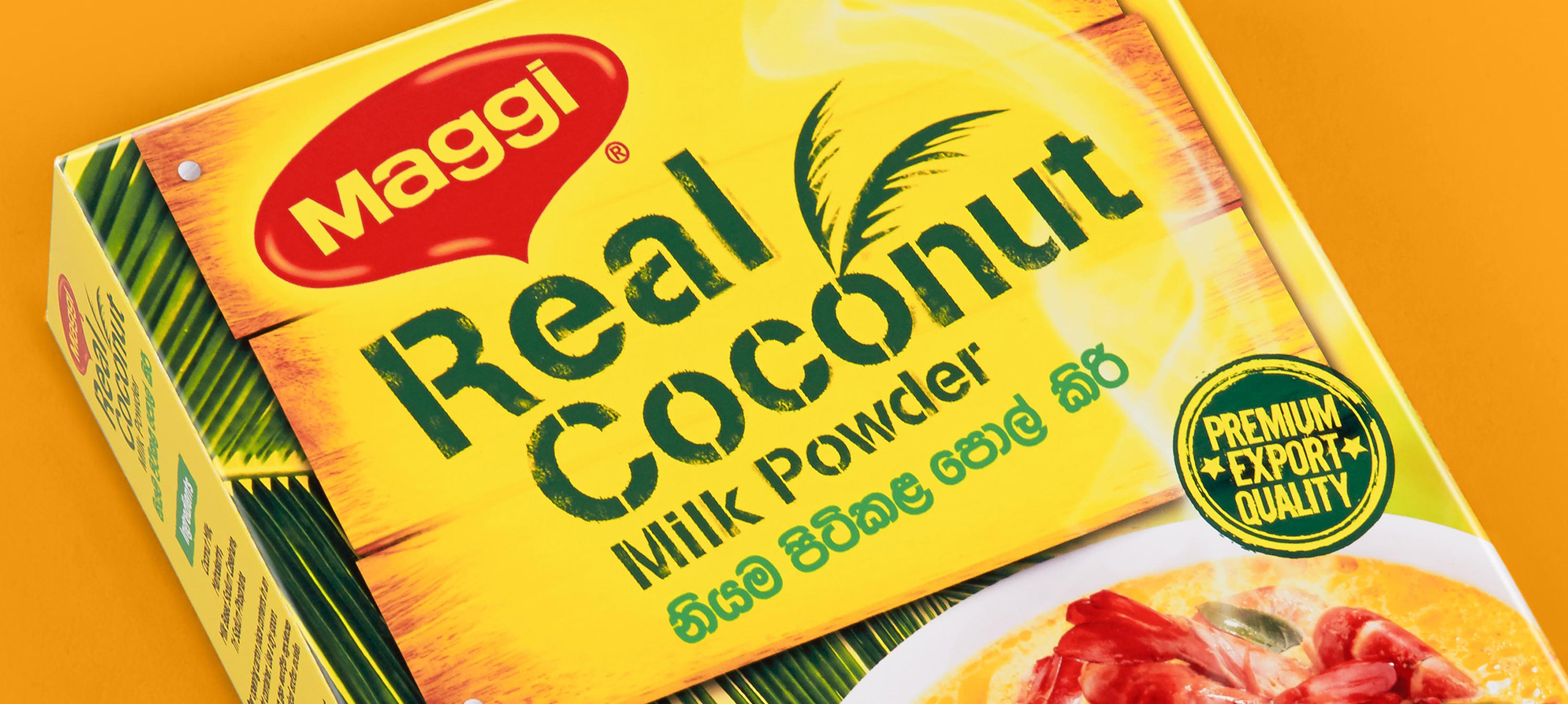 Maggi Real Coconut Packaging Banner