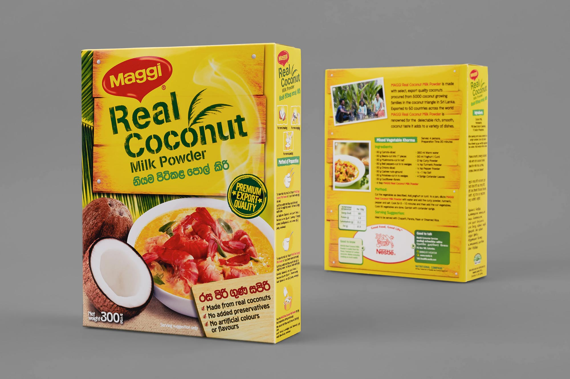 Maggi Real Coconut Packaging Design