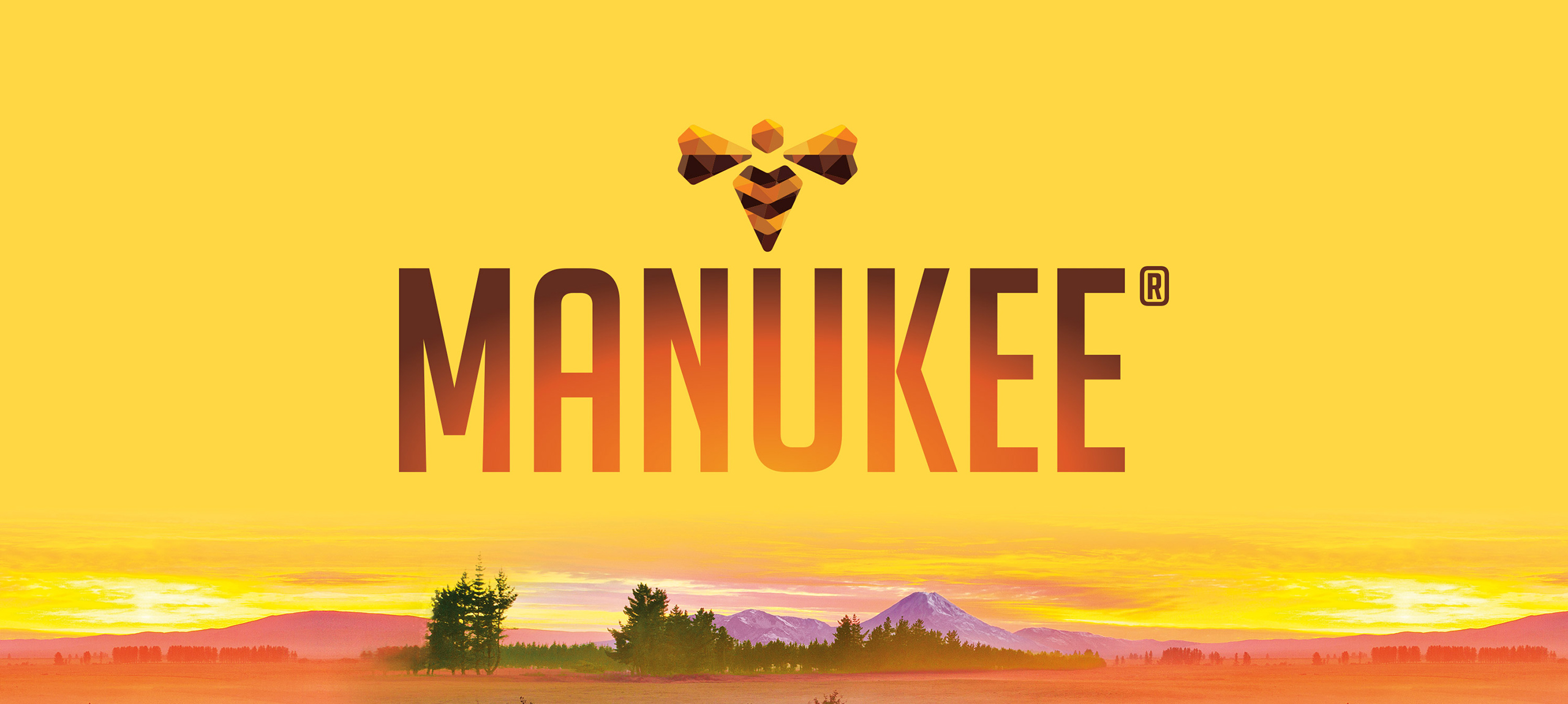 Manukee Honey Brand Logo Banner