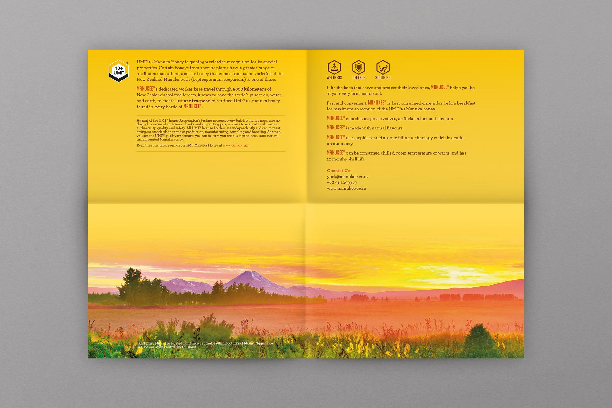 Manukee Honey Brochure Design Layout