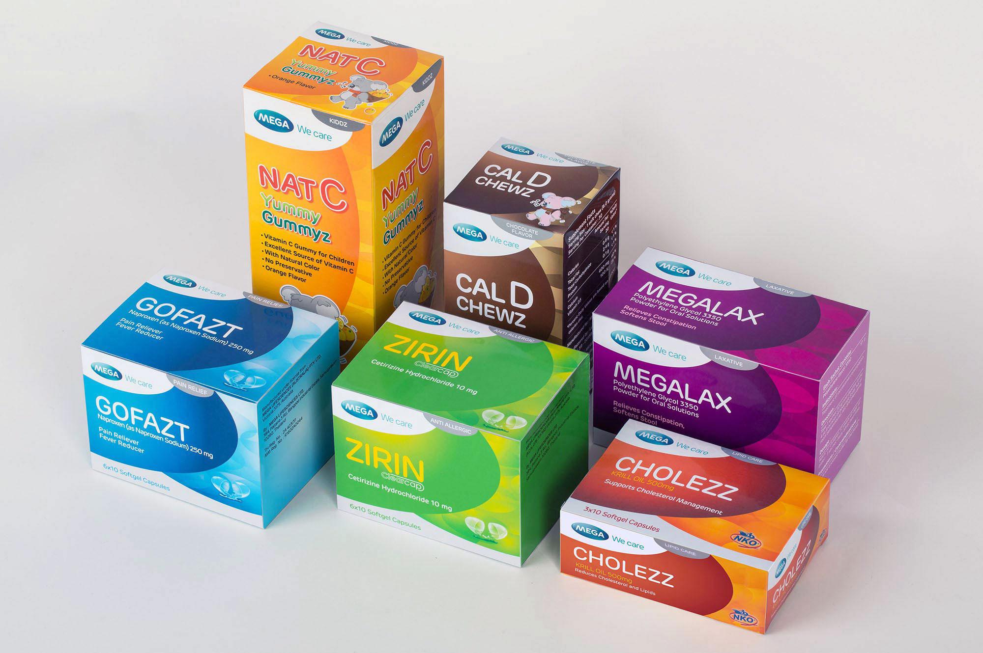 Mega Lifesciences Packaging Design