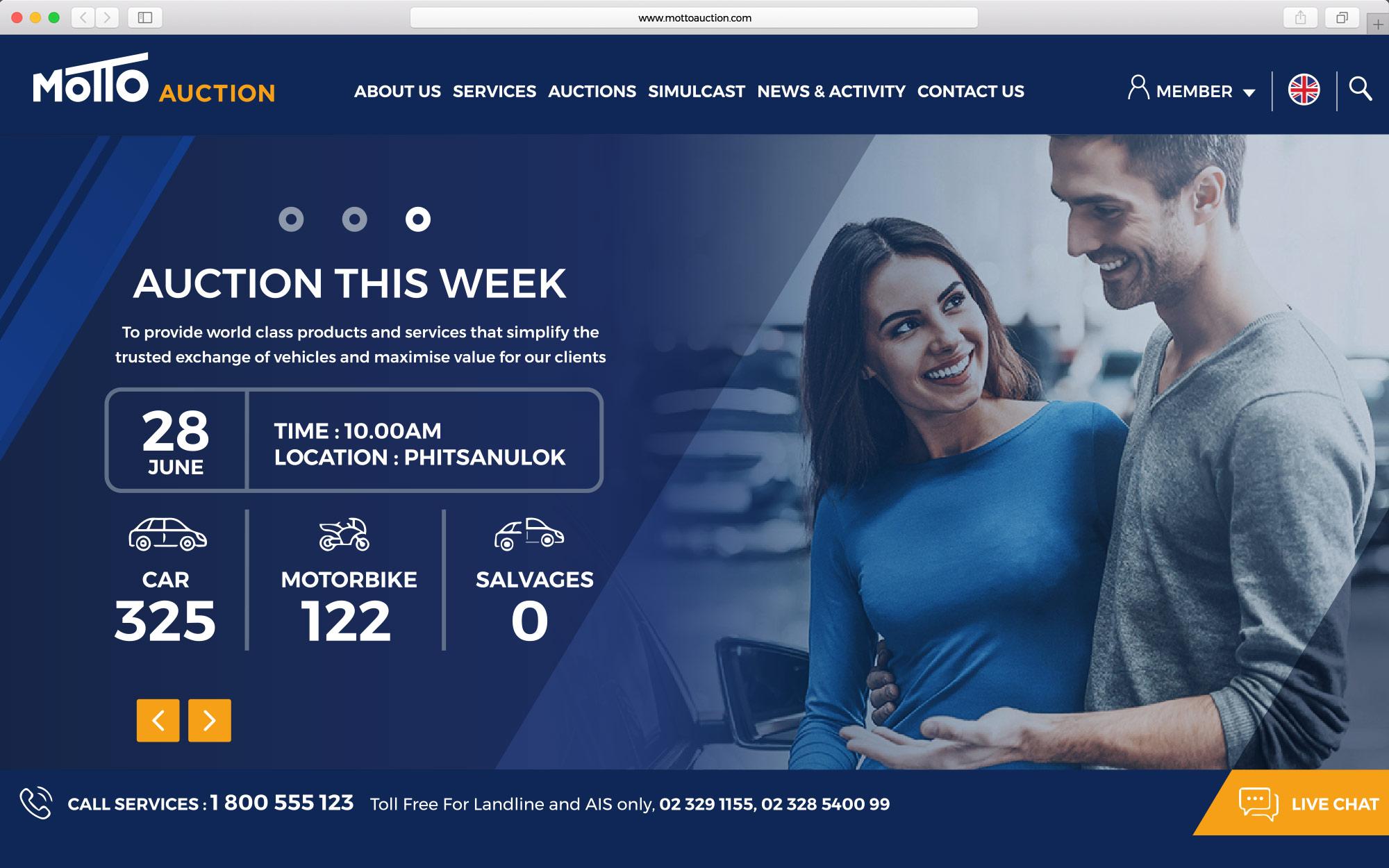 Motto Auction Website Design