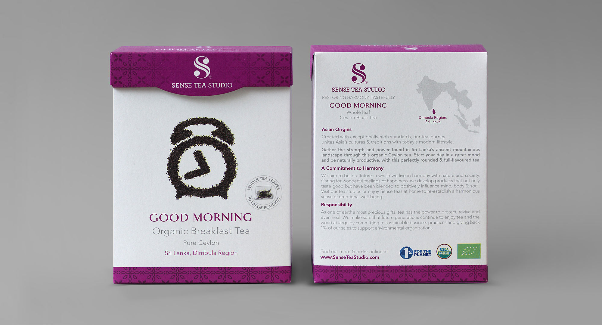 Organic Breakfast Tea Packaging Design