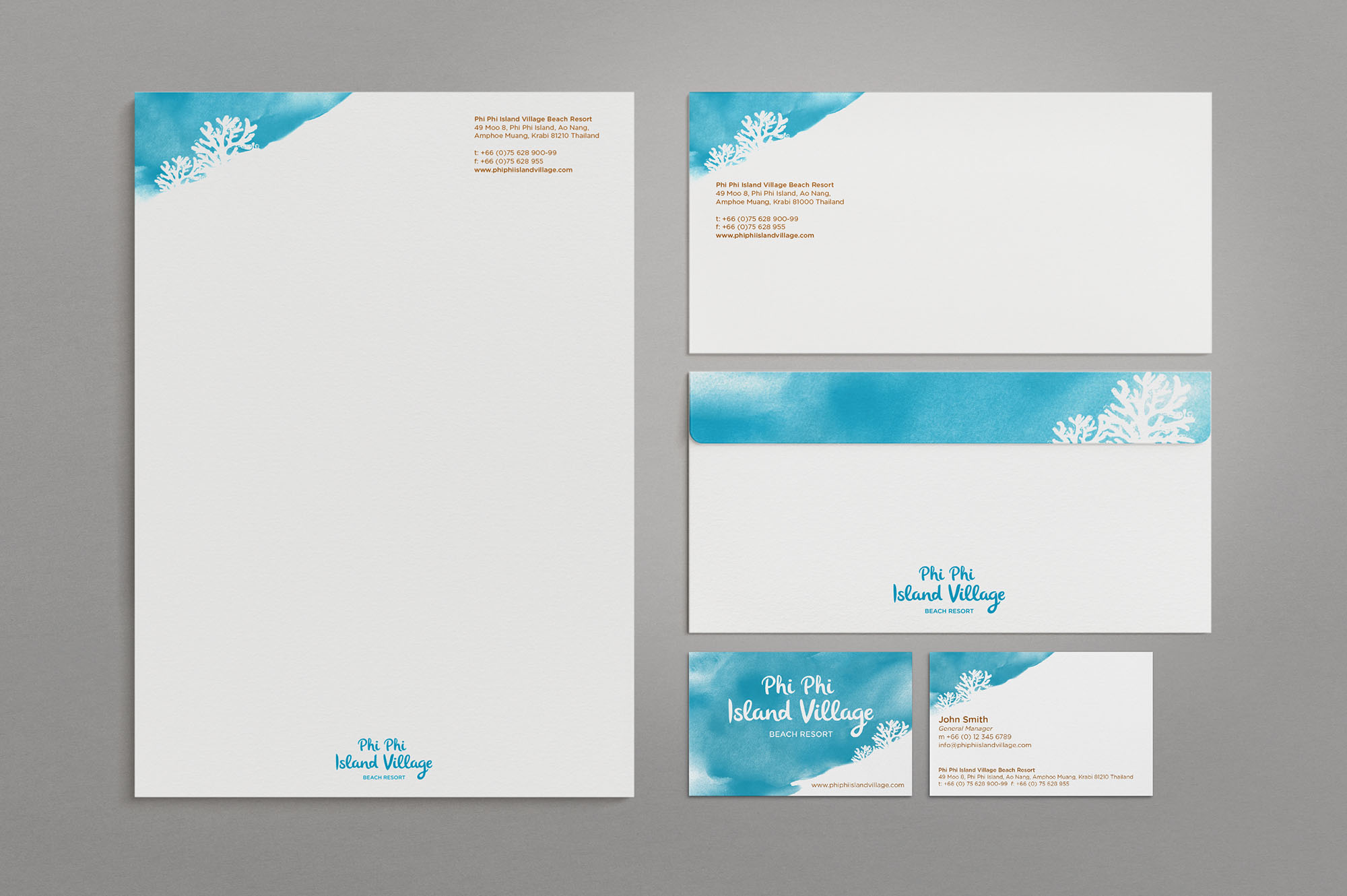 Phi Phi Island Resort Stationery Design