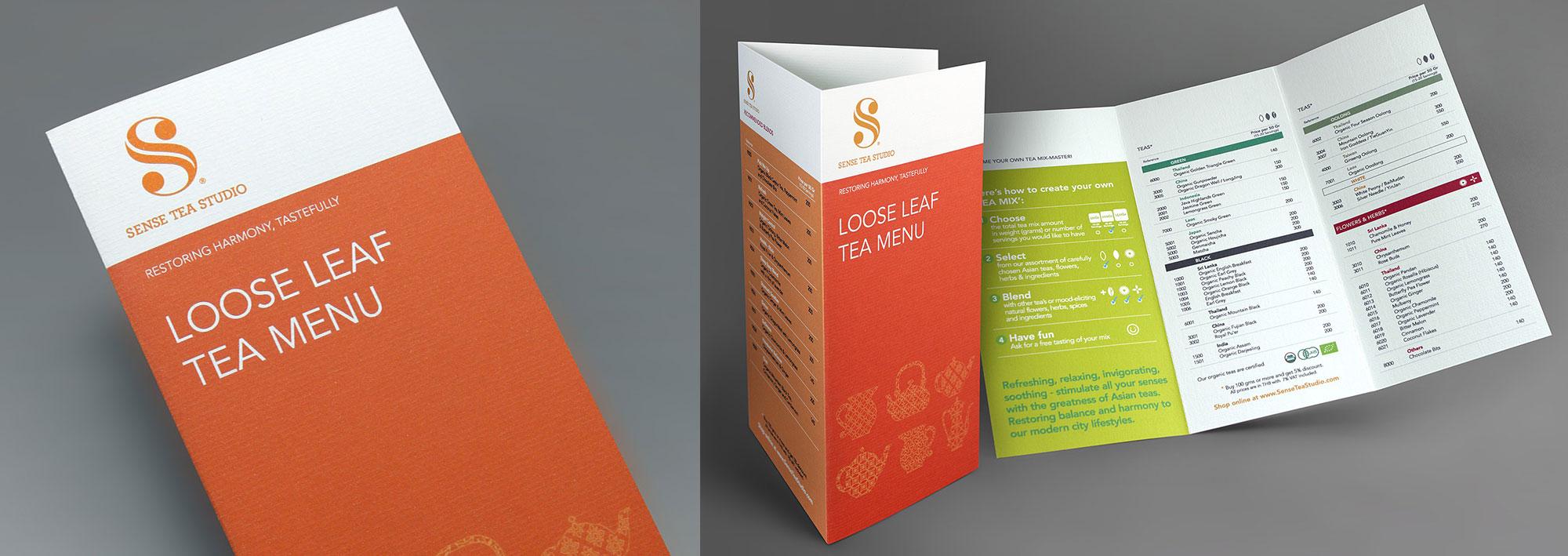 Sense Tea Studio Brochure Design