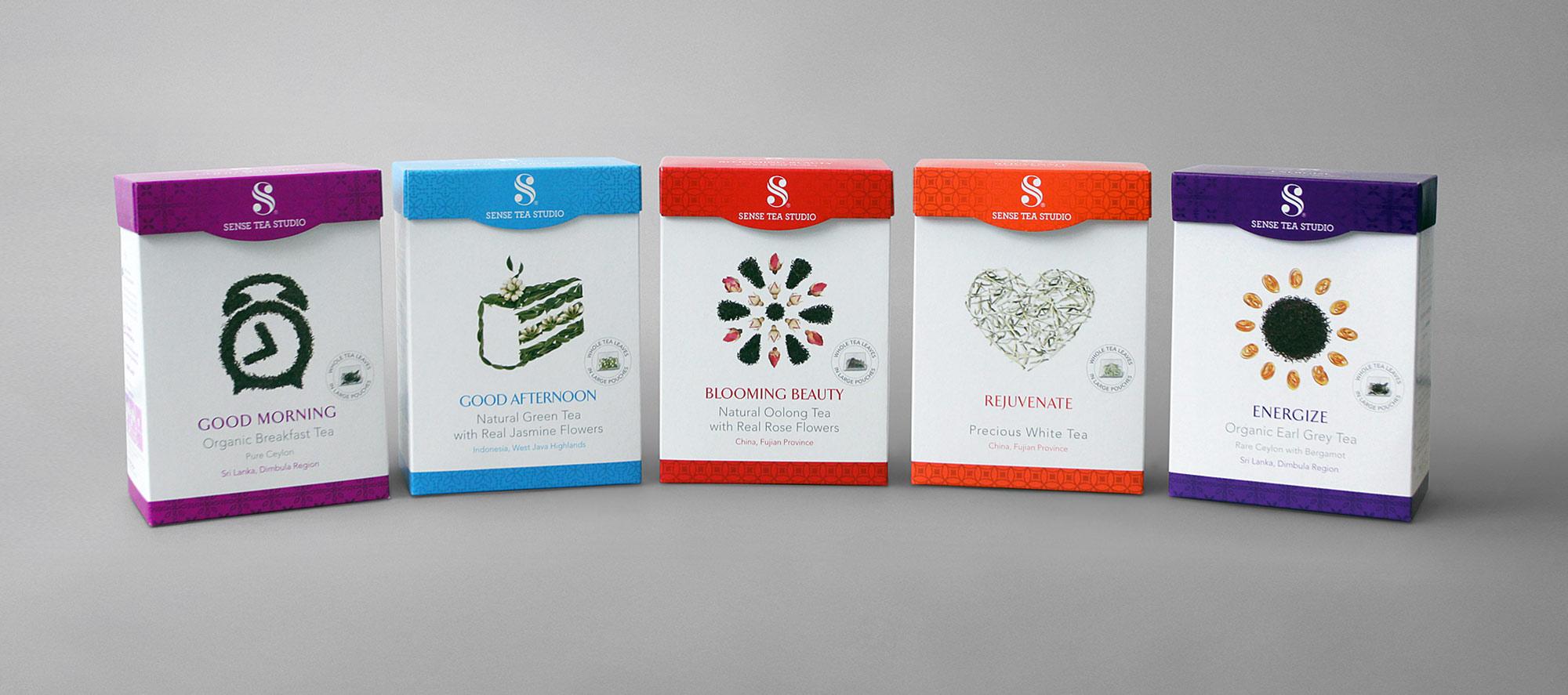 Sense Tea Studio Packaging Design