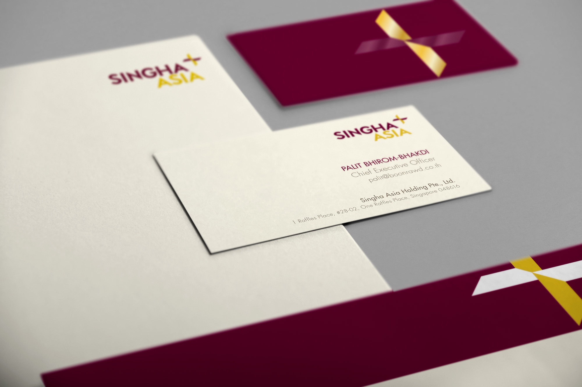 Singha Asia Business Card Design