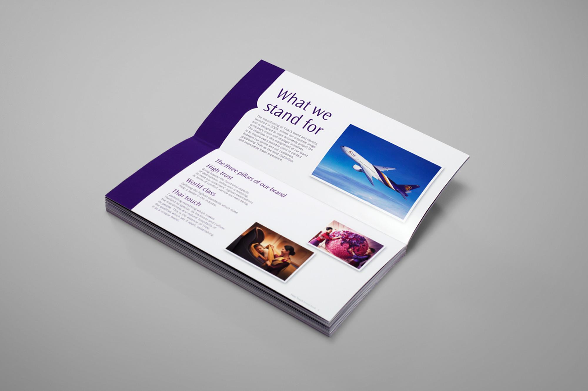 Thai Airways Brand Book Layout