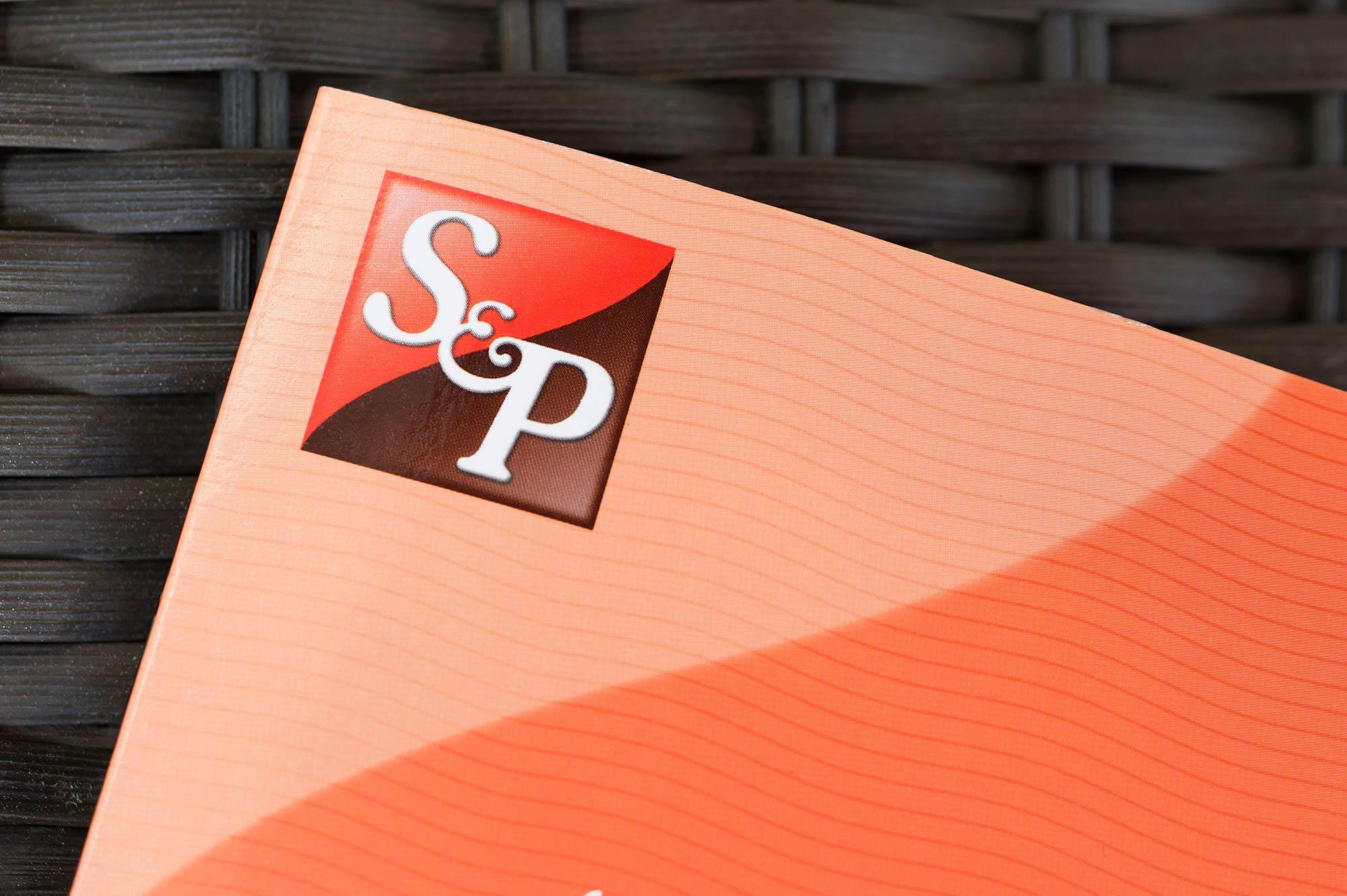 s and p menu design