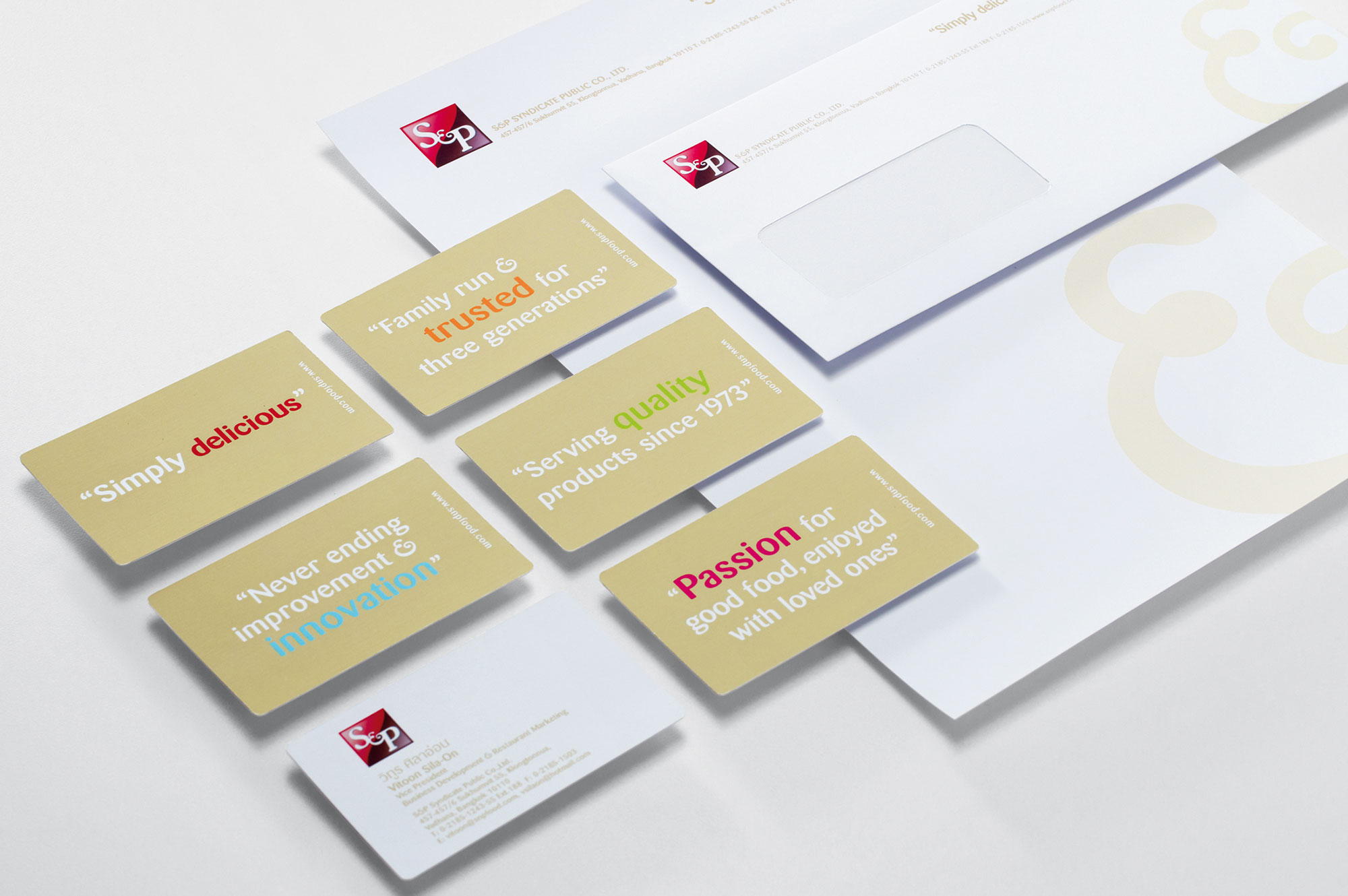 s and p stationery design