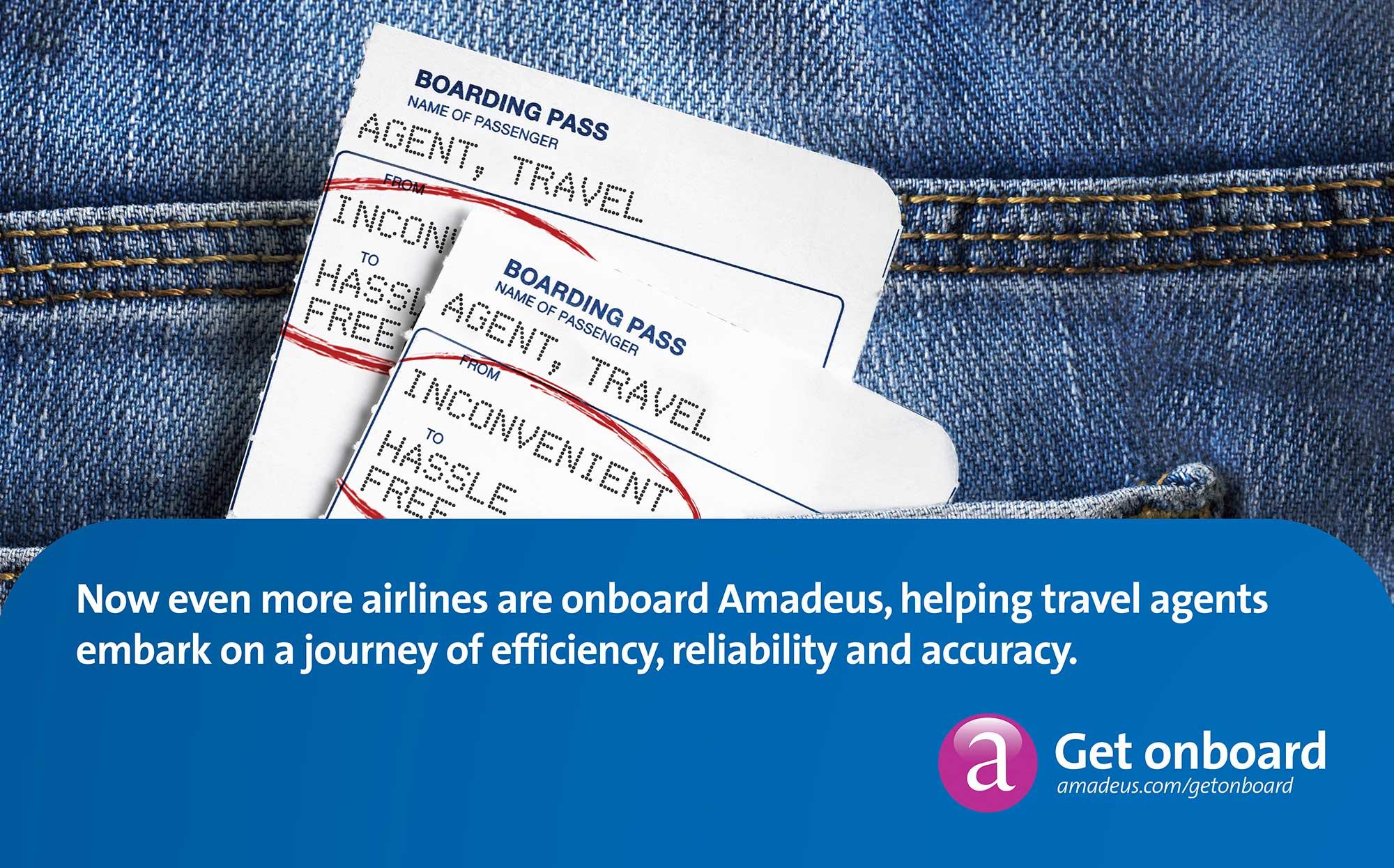 Amadeus Advertising Boarding Pass