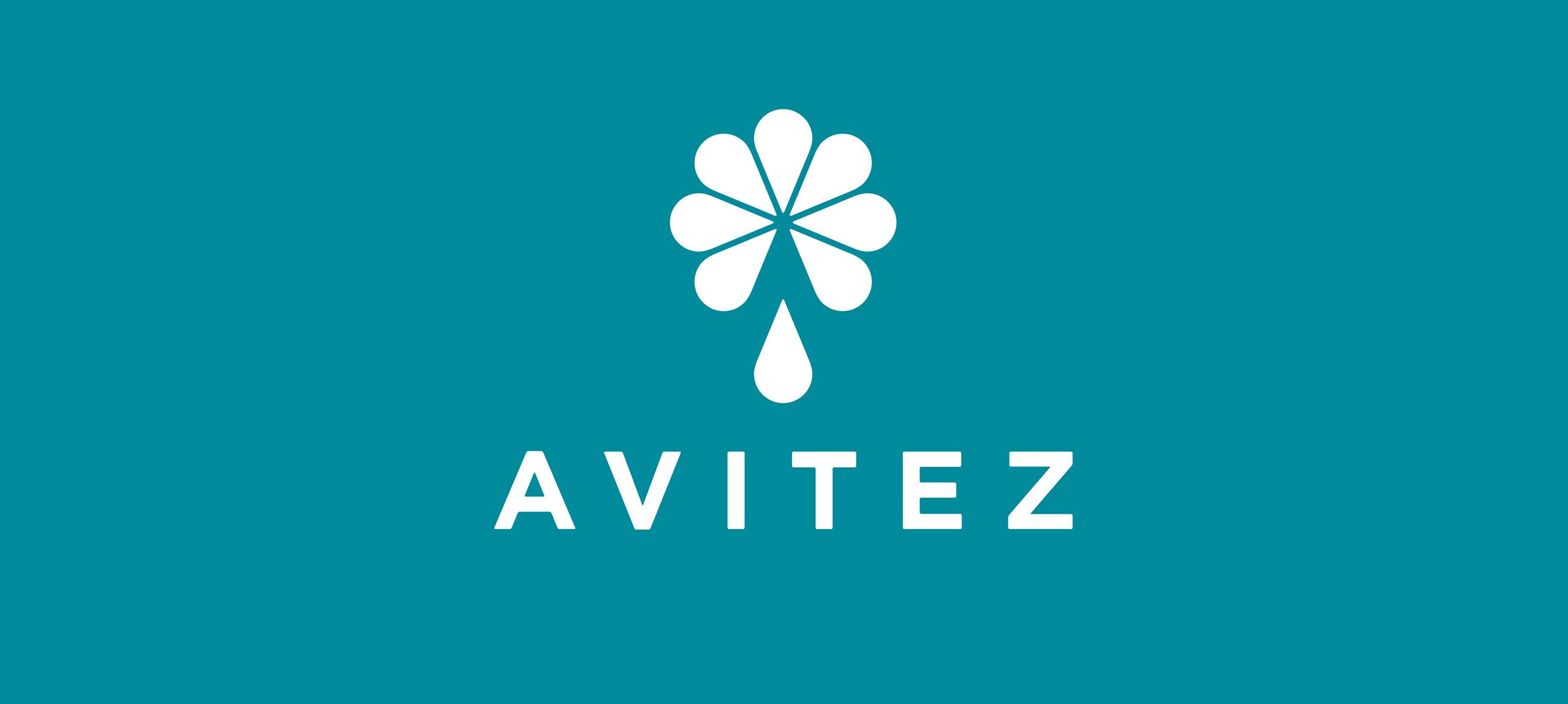 Avitez Water Brand Logo Banner