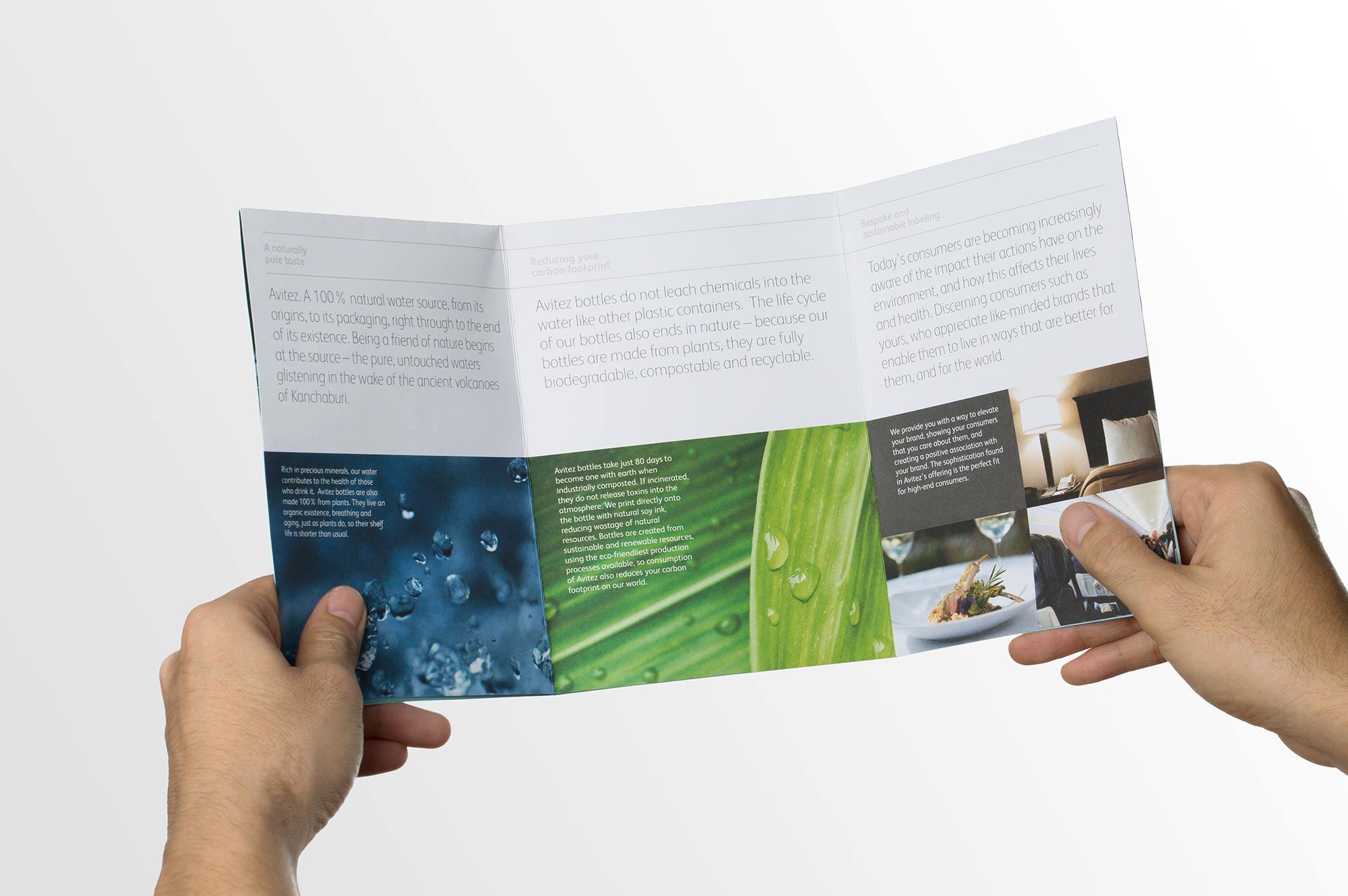 Avitez Water Brochure Design Layout