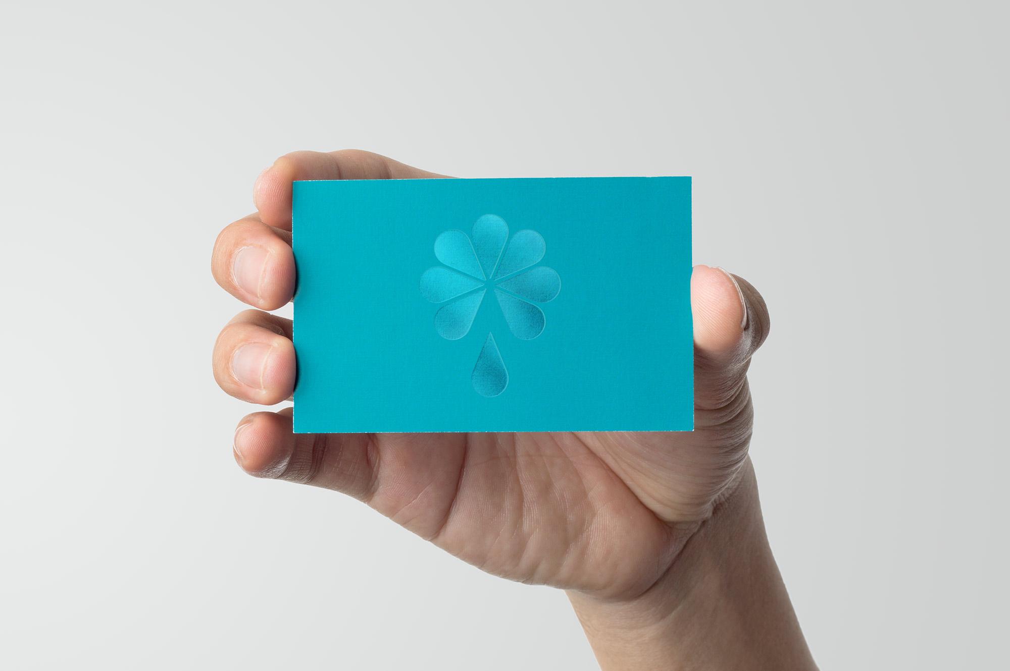 Avitez Water Business Card Design