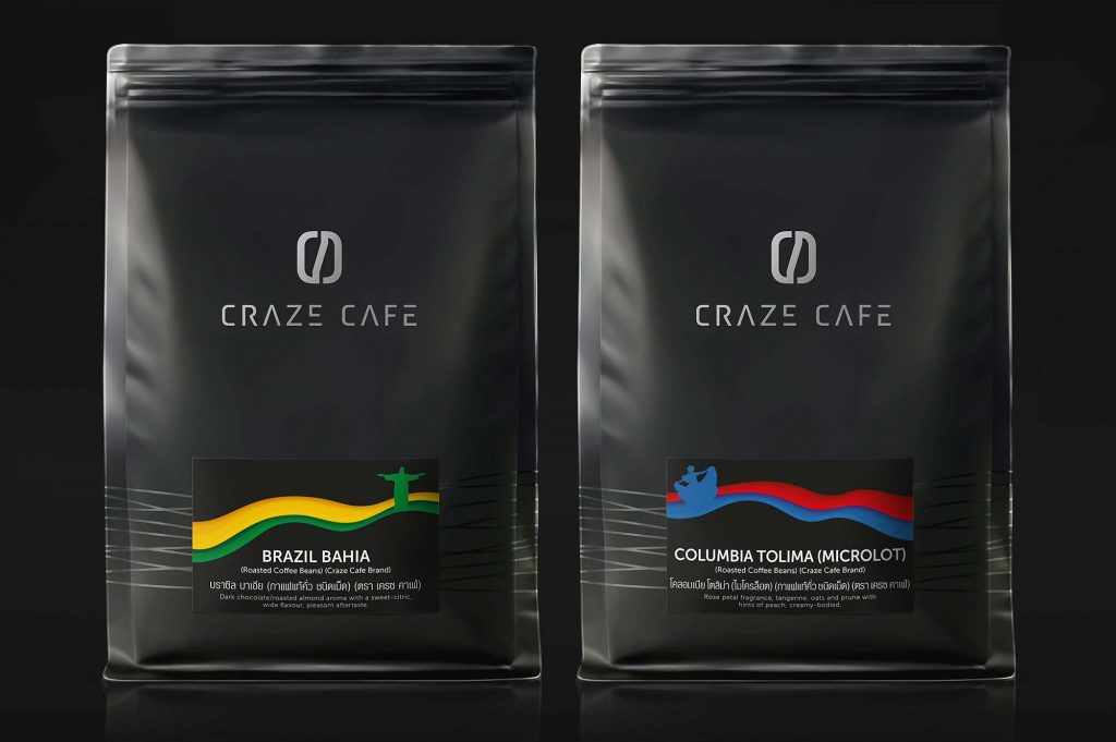 Craze Cafe Coffee Brand Packaging