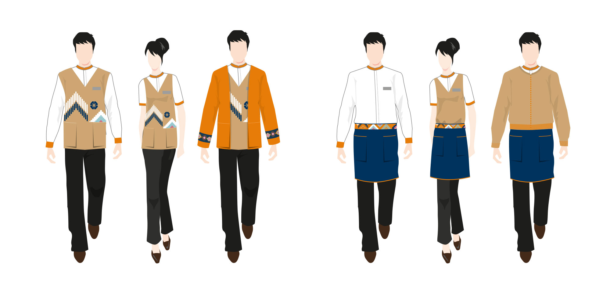Bhu Bhirom Restaurant Uniform Design