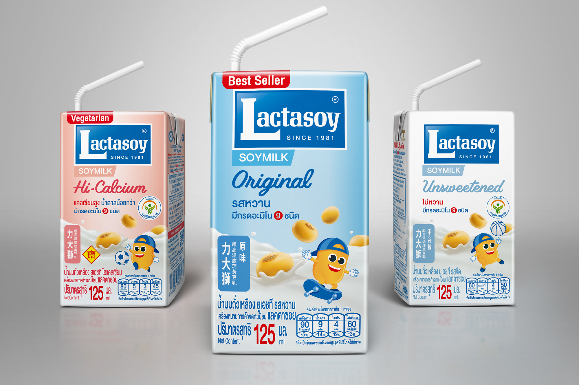 Lactasoy Soy Milk Packaging Cartons