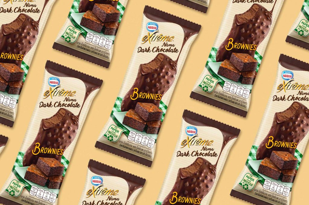 Nestle Ice Cream Chocolate Brownie Brand Packaging
