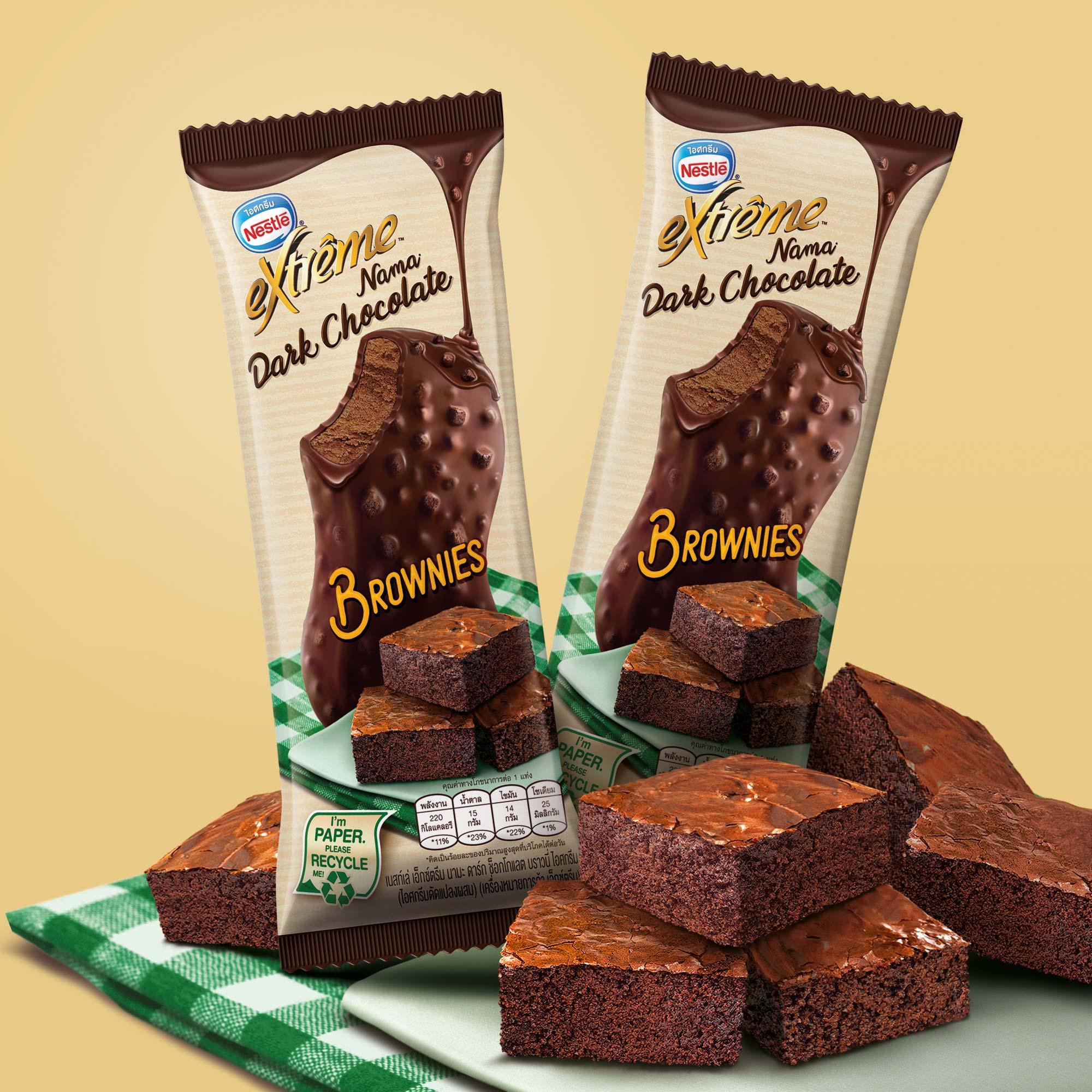Nestle Ice Cream Chocolate Brownie Brand Packaging